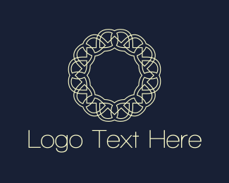Decorative - Floral Circle logo design