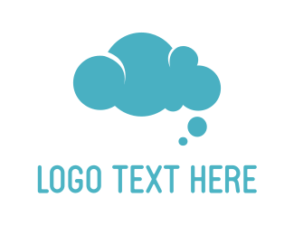 Rounded - Bubble Cloud  logo design