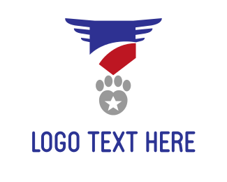 First - Military Paw logo design