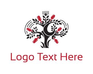 Garden - Bottle Tree logo design