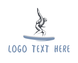 Surfboard - Skater Man logo design
