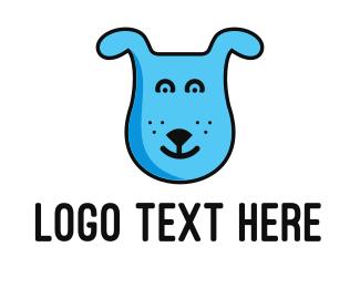 Pet - Blue Dog logo design
