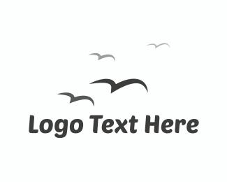 Seagull - Birds Flying  logo design