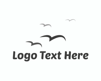 Freedom - Birds Flying  logo design