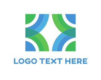 Blue And Green - Green & Blue Circles logo design