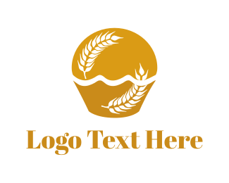 Wheat Cupcake  Logo