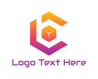 Dice - Cube C & B  logo design