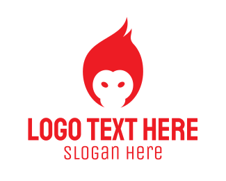 Monkey - Flame Monkey logo design
