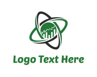 Stock - Atom trading  logo design