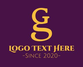 Dark Blue - G & S logo design