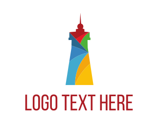 Show - Colorful Lighthouse logo design