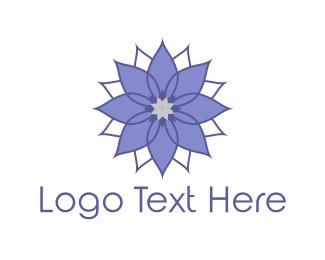 Purple Flower Logo