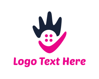 Hand - Abstract Hand logo design