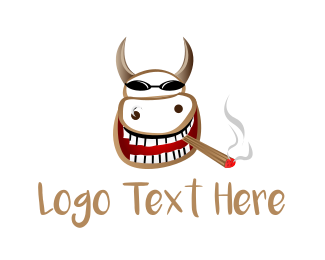 Smoker - Smoker Cow logo design