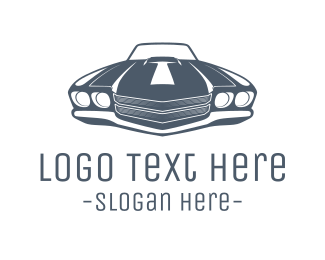 Sports Car - Vintage Car logo design