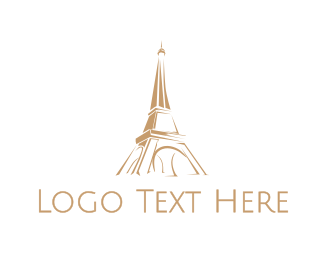 Tourism - Brown Eiffel Tower logo design