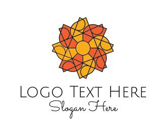 Fan - Solar Flower logo design