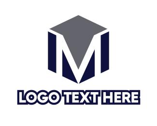 Corporation - Masculine Cube M logo design