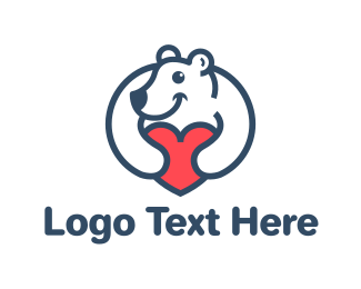 Bear - Bear Heart logo design