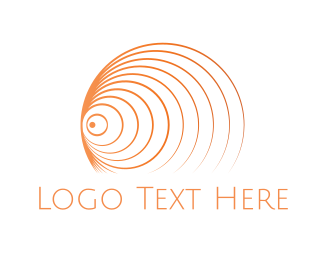Breathwork - Orange Tornado logo design