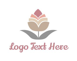 Bloom - Pink Bud logo design