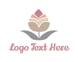 Bloom - Pink Bud logo design