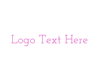White And Pink - Pink & Vintage logo design