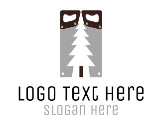 Saw - Wood Saw logo design