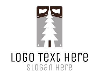 Lumberjack - Wood & Saw logo design