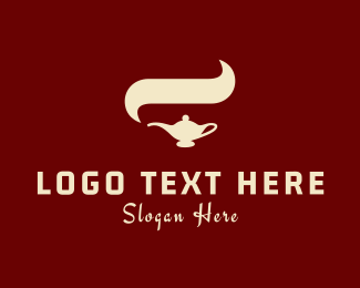 Smoke - Arabian Lamp logo design
