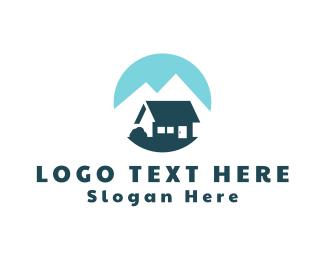 Cabin - Blue Cotagge logo design