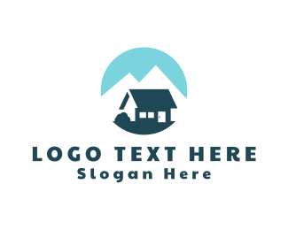 Hut - Blue Cotagge logo design