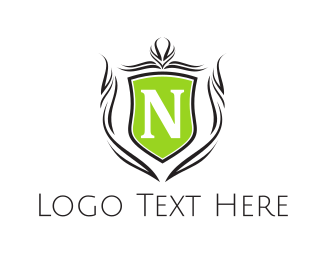 Traditional - Shield Letter N logo design