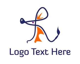 Mouse - Rat Letter R logo design