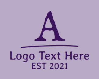 Traditional - Old School Font Letter logo design