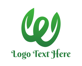 Vines - Green W Swoosh Stroke  logo design