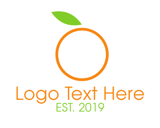 Green And Orange - Minimalist Orange logo design