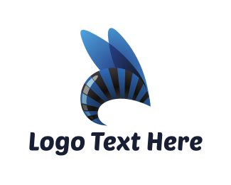 Insect - Blue Wasp logo design