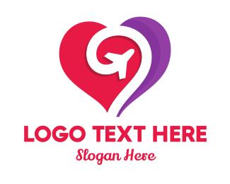 Aircraft - Jet Heart logo design