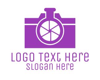 Flask - Abstract Camera Lab logo design