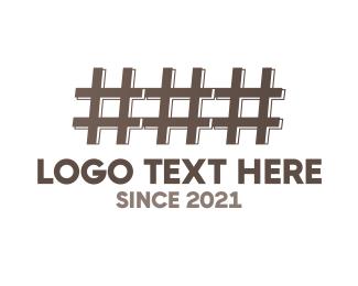 Hashtag - Hash Fence logo design