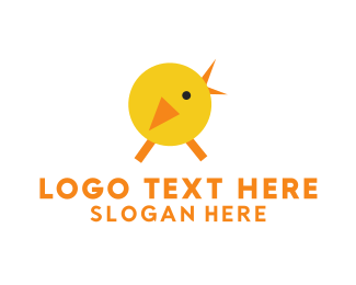 Chick - Yellow Chicken logo design