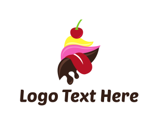 Ice Cream - Ice Cream Tongue logo design