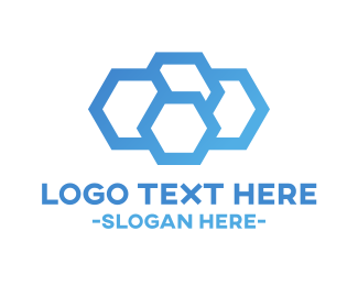 Beehive - Blue Hive logo design