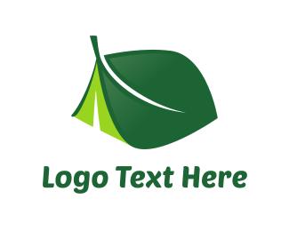Leaf Tent logo design