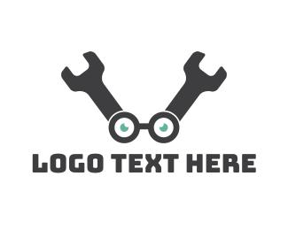 Fix - Wrench Geek logo design