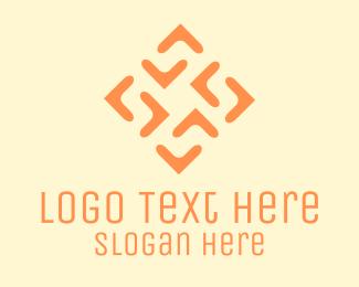 Tile - Arrow Flower logo design