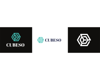 Synergy - Cube Hexagon logo design