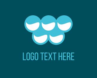 Drinking - Blue Bubbles logo design