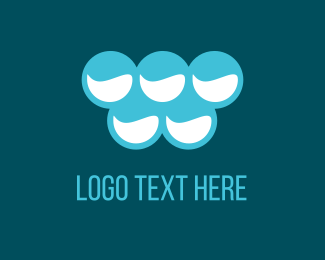 Cleaner - Blue Bubbles logo design